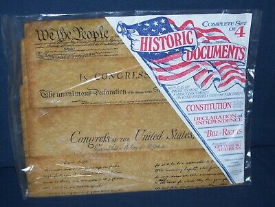 Historical Documents Set Reproduction Sealed Bill of Rights Constitution