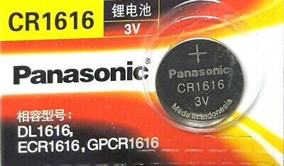 1piece Panasonic CR1616, BR1616, DL1616, 3V cell Lithium Battery. EXP 2023