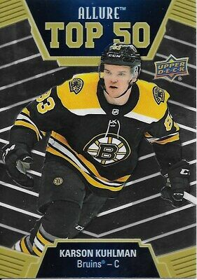 19-20 2019-20 Upper Deck Allure Karson Kuhlman Top 50 INSERT #T50-35 Bruins