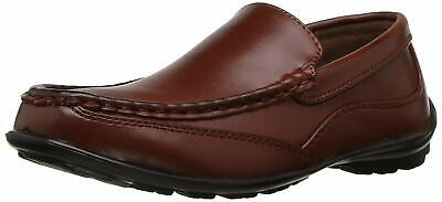 Kids NOTFOUND Boys Booster Driving Slip On Loafers, Dark Luggage, Size 2.5 jnTX