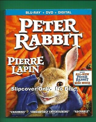 Peter Rabbit SLIPCOVER ONLY fits blu-ray case