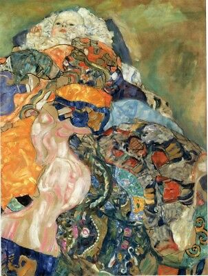 A4 Lady with a Muff Gustav Klimt 1916-17 Poster Canvas Picture Art Print A0