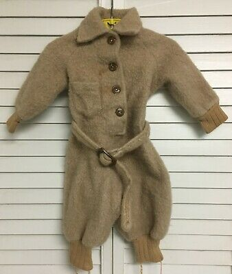 Vintage One Piece Fleece Boys Or Girls Toddlers Outwear Bunting Suit Size 3