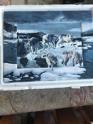 The Emerging Night by Kevin Daniel Wolf Collectible Plaque