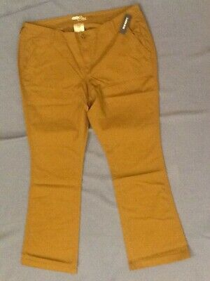 Old Navy The Diva Women Light Brown Short Court Khaki Pants Size 16 NEW W/TAGS