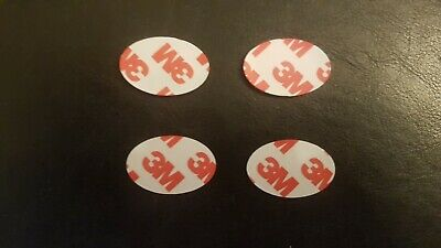 Self Adhesive Magnetic Dots oval 20mm x 10mm 3M backing 1mm thick x 50 Magnets