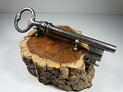 Large Antique French Key,Made 19Th Ct,Wrought Iron,Rustic,Lock,Door