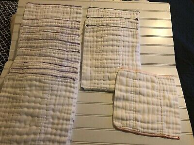 Prefold Unbleached Cloth Diapers, Size 1 (7-15lbs), 13