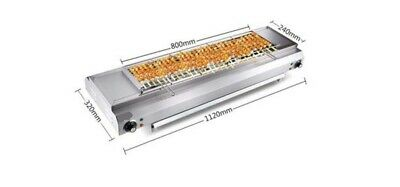 Commercial Stainless Steel Automatic Turnover Electric BBQ 112*32*19cm