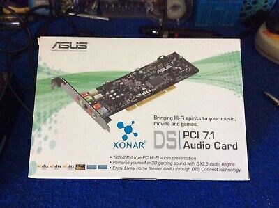 ASUS Xonar DS PCI 7.1 DTS Home Theatre Gaming Sound Card
