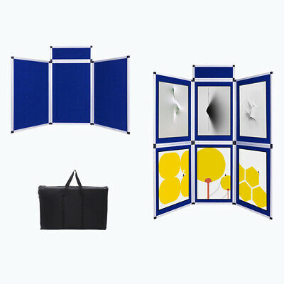 3/6 Panel Foldable Folding Screen Exhibition Show Display Board with Bag