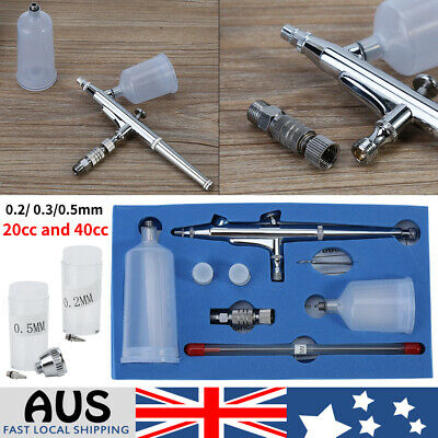 JP-131T Dual Action Air Brush 0.2/0.3/0.5mm Airbrush Spray Gun Paint Tattoo Kit