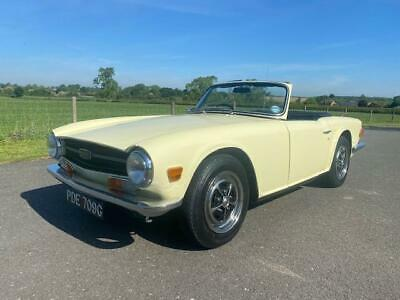 1969 Triumph TR6 150 BHP PI. Jasmine Yellow with Black Ambla upholstery