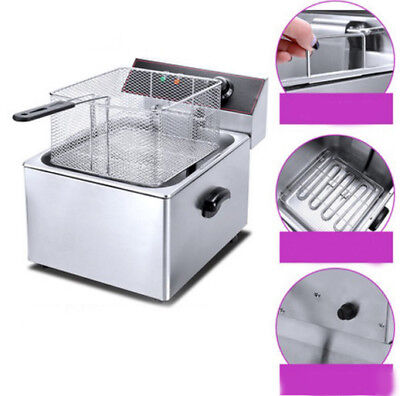 Electric Deep Fry Fryer Pot Home Appliance Kitchen Equipment 31X41X34CM #