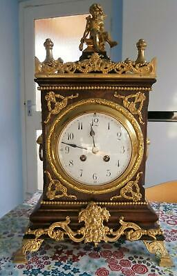 Oak & Bronze Bracket Clock Serviced and Overhauled