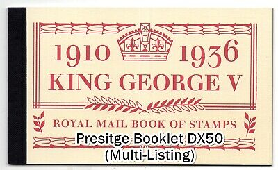 GB 2010 Presitge Booklets DX50 Accession of King George V Unmounted Mint