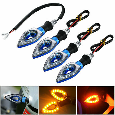 4x 12LED Motorcycle Motorbike Turn Signal Indicators Light Lamp Amber Universal