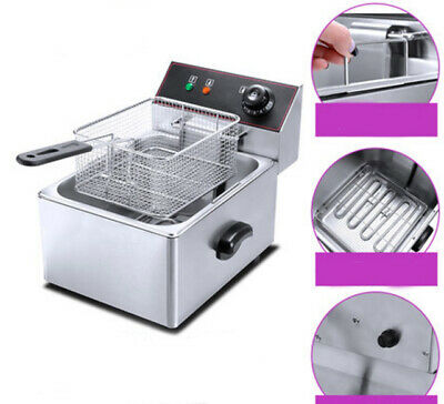Electric Deep Fry Fryer Pot Home Appliance Kitchen Equipment 37X44X34CM #