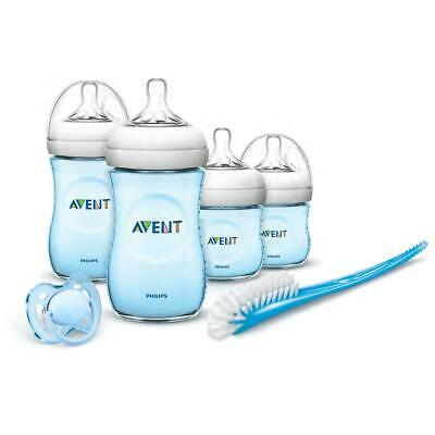 Philips Avent Natural Baby Newborn Starter Kit, Bottles, Brush, Dummy Teat, Blue