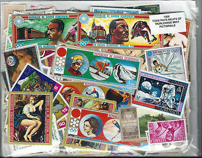 World Wide 1000 Different stamps ALL MINT AND ALL LARGE pictorials