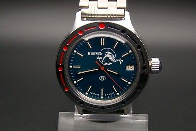 Vostok Amphibian Scuba Diver Frogman Russian Automatic Self Wind  Military Watch