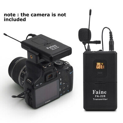 Professional UHF Wireless DSLR Camera Microphone for DSLR Camera Camcorder Video