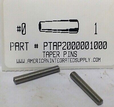 "#0X1"" Taper Pin Steel Plain .156"" Large End Diameter (10)"