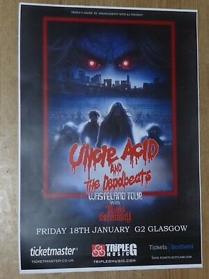 Uncle Acid And The Deadbeats - Glasgow jan.2019 live show concert gig poster