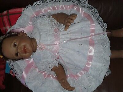 Baby Girl Christening Party Lace Dress Spanish 0-9 m Pink// Ivory White//Cream