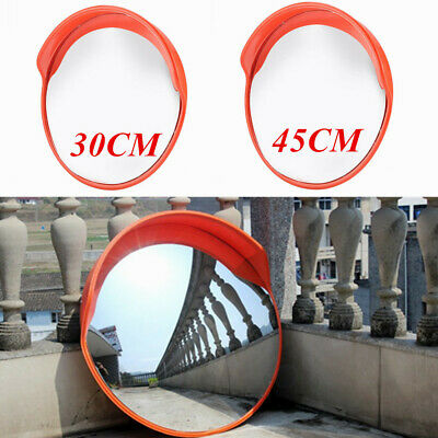 Round Wide Angle Security Curved Convex Road Mirror Traffic Driveway Safety