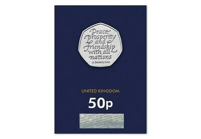 2020 UK  Brexit 50p Coin in BLUE CARD BUNC  NEW RELEASE PRE-ORDER