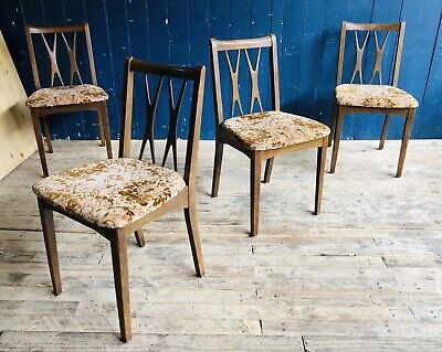 4 Lebus Link Mid Century Retro Diamond Cross Back Dinning Chairs DELIVERY*
