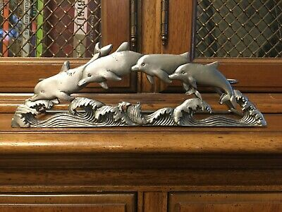Metal (dolphin) candle holder