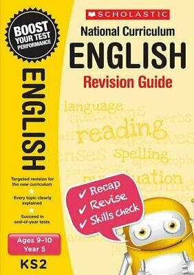 Brand NEW Scholastic National Curriculum English Revision Guide Book for year 5