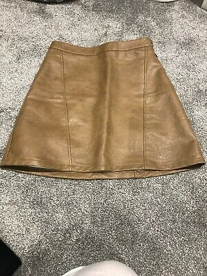 Zara Real Leather Quilted Mini Skirt Size XS Bloggers Fave