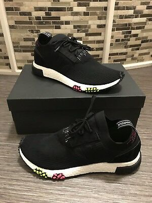 Adidas nmd racer sneakers B37640 Carbon Core Black Solar