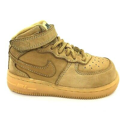 Nike Force 1 Mid WB Wheat Flax//Outdoor Green Toddler Size 7C Air AH0757 203