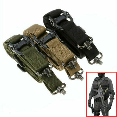 "Tactical Quick Detach Rifle Sling QD 1 or 2 Point 1.2"" Adjustable Multi Mission"