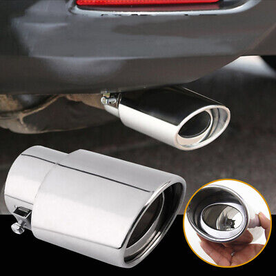 Riloer Universal Stainless Steel Car Rear Round Exhaust Tail Pipe Muffler Tip