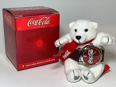 2002 Coca-Cola Polar Bear and Watch with Box and Paperwork