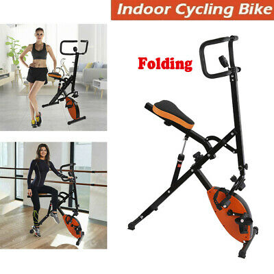 Folding Exercise Magnetic Bike Home Indoor Cycling Fitness Gym Cardio Workout US