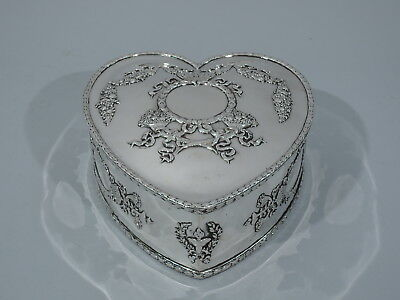 Howard Box - 166 - Antique Valentine's Day Heart American Sterling Silver
