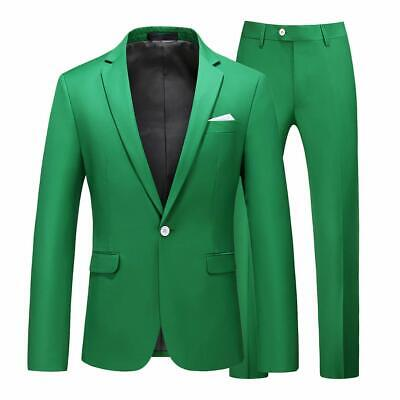 UNINUKOO Mens Slim Fit 2 Piece Single Breasted Jacket Party Prom Tuxedo Suits