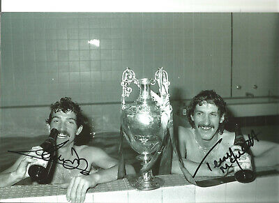 Graeme Souness Terry McDermott Liverpool signed authentic football photo SS400