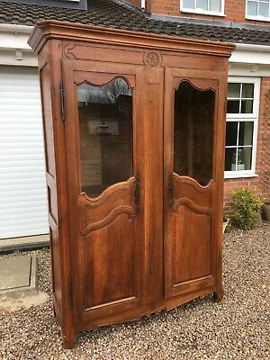 18th Century Fruit Wood French Armoire Louis XVI Large Wardrobe c1780 Beautiful