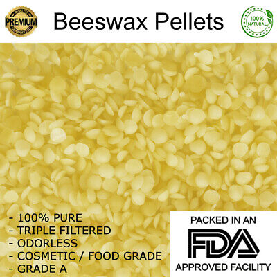 100% Pure YELLOW Beeswax Pellets Triple Filtered Raw Pastilles Granules Grade A