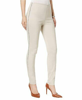INC International Concepts Women's Curvy Fit Studded Pull-On Skinny Pants