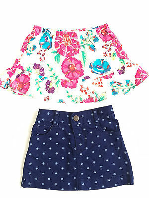 Lot 2 Baby Girl Cotton Everyday Skirt Skort Old Navy Place 12-18 Months