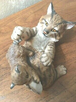 """Lynx Cat & Baby """"Playful Morning"""" by Nicholas Wilson, Free Shipping"""