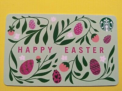 """Starbucks gift card 2020 """" HAPPY EASTER """" PRETTY CARD~ 🔥 NEW~ NO VALUE"""